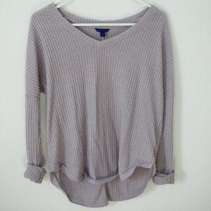 V- Neck Lavender Sweater